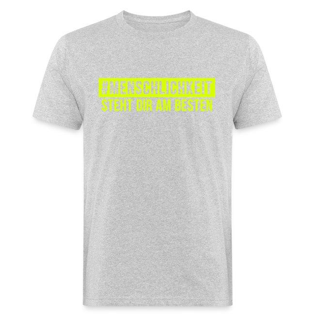 Bio T-Shirt Männer #Menschlichkeit