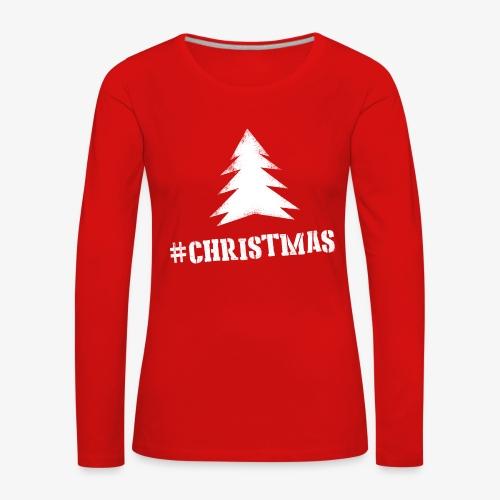 #christmas Sweater V - Vrouwen Premium shirt met lange mouwen