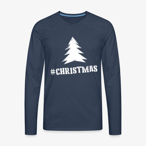 #christmas Sweater M - Mannen Premium shirt met lange mouwen