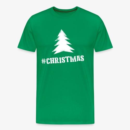 #christmas T-shirt M Groen - Mannen Premium T-shirt