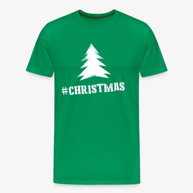 #christmas T-shirt M Groen