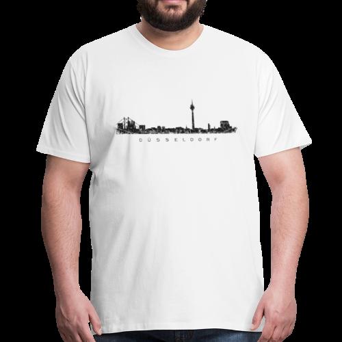 Düsseldorf Skyline (Vintage/Schwarz) S-5XL T-Shirt - Männer Premium T-Shirt