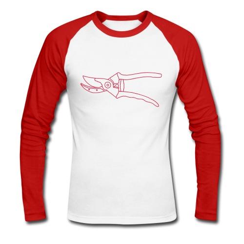 Gartenschere Rosenschere - Männer Baseballshirt langarm