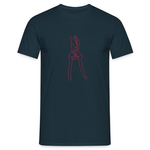 Gartenschere Rosenschere - Männer T-Shirt