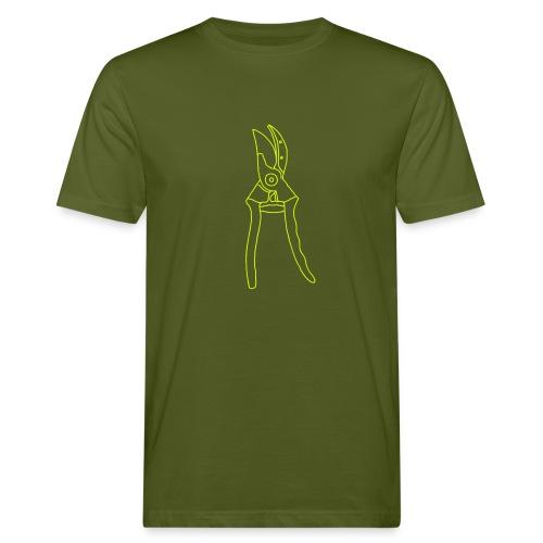 Gartenschere Rosenschere - Männer Bio-T-Shirt