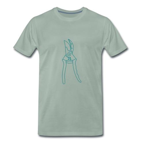 Gartenschere Rosenschere - Männer Premium T-Shirt