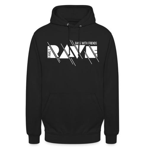 Kapuzenpullover Unisex // RAVE (Logo weiß) - Unisex Hoodie