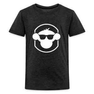 MM Kids T Shirt White Logo : charcoal gray - Teenage Premium T-Shirt