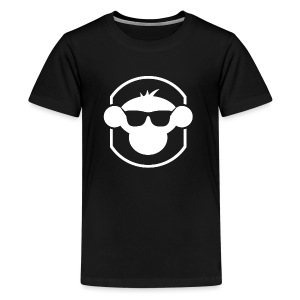 MM Kids T Shirt White Logo : black - Teenage Premium T-Shirt