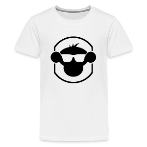 MM Kids T Shirt Black Logo : white - Teenage Premium T-Shirt