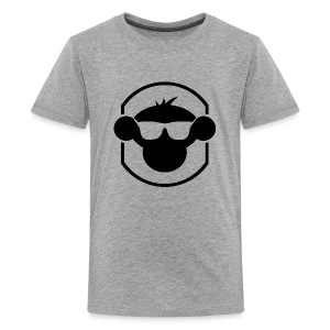 MM Kids T Shirt Black Logo : heather grey - Teenage Premium T-Shirt