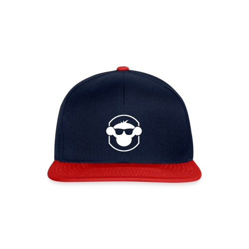 MM Snapback Cap White Logo : navy/red - Snapback Cap
