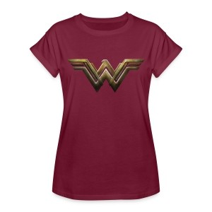 Warner Bros Wonder Woman Logo Métallique - T-shirt oversize Femme