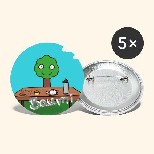 Baumi Tee  - Buttons klein 25 mm (5er Pack)