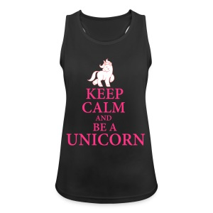 Keep calm be a unicorn Sportbekleidung - Frauen Tank Top atmungsaktiv