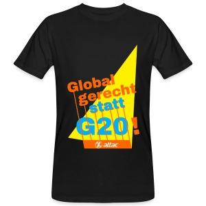 G-20 Protest-Shirt LadiesCut - Männer Bio-T-Shirt