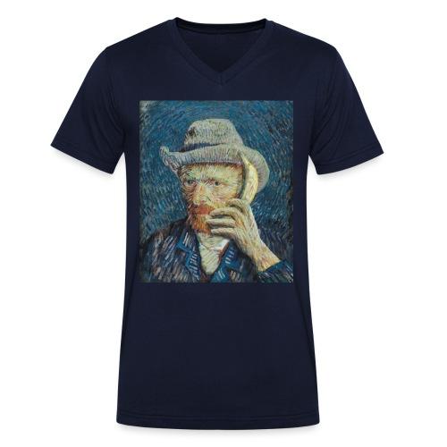 Van Gogh mannen v-hals bio - Mannen bio T-shirt met V-hals van Stanley & Stella