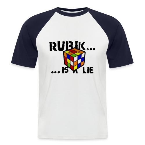 rubik is a lie - camiseta chico dos colores - Camiseta béisbol manga corta hombre