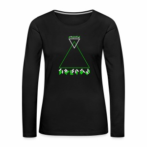 Alien Text - langarm Shirt - Frauen Premium Langarmshirt