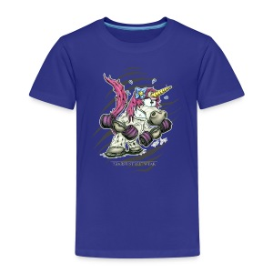 train like a unicorn - Kinder Premium T-Shirt
