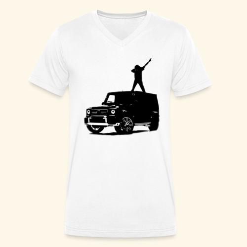 Benz Dab - Männer Bio-T-Shirt mit V-Ausschnitt von Stanley & Stella
