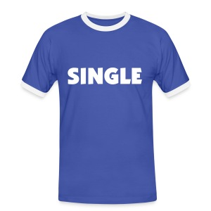 Single (White on Blue) - Men's Ringer Shirt