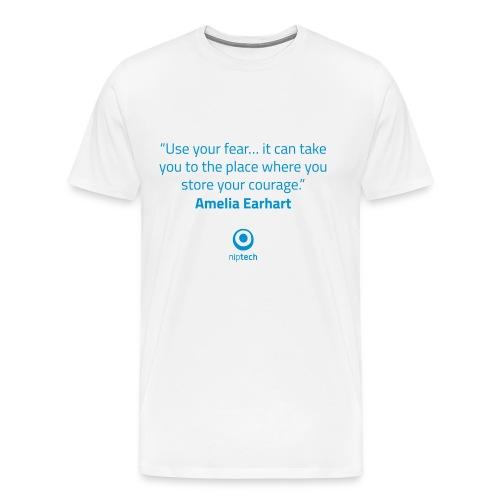 Niptech - Amelia Earhart quote T-Shirt - Men's Premium T-Shirt