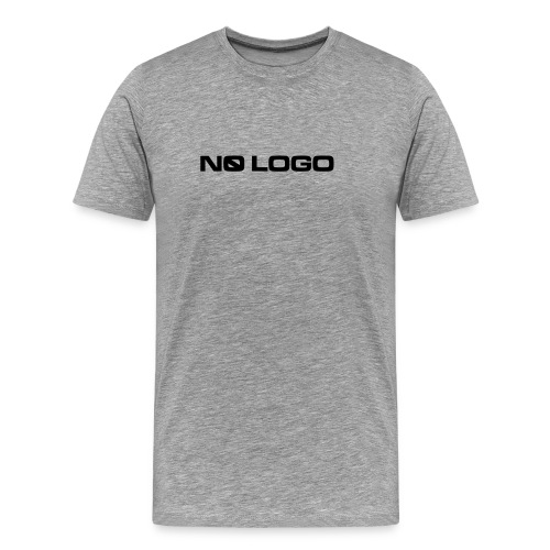 Light gray t-shirt with No Logo logotype - Men's Premium T-Shirt