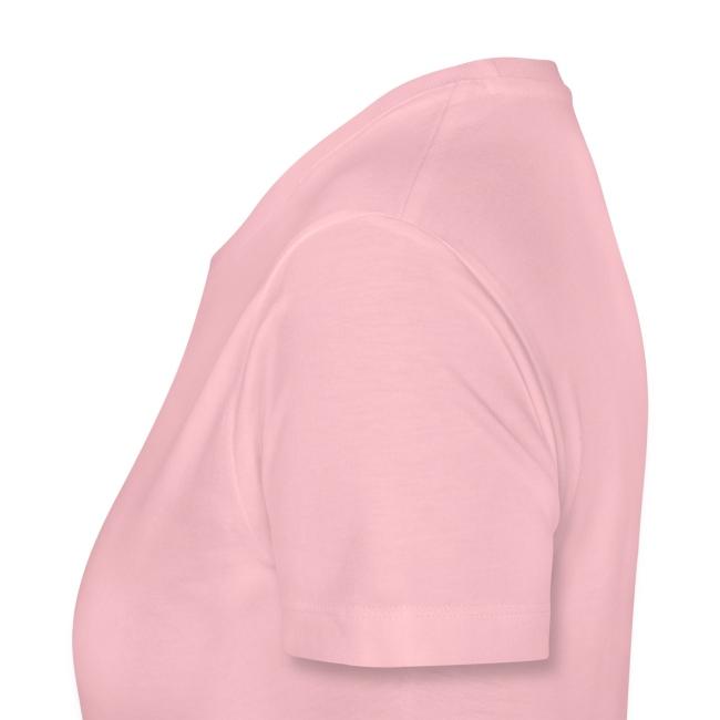 Festivalshirt vrouwen premium rozeglitter