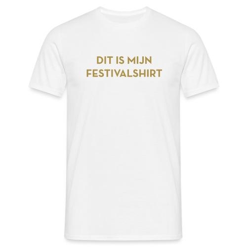 Festivalshirt mannen t-shirt goudglitter - Mannen T-shirt