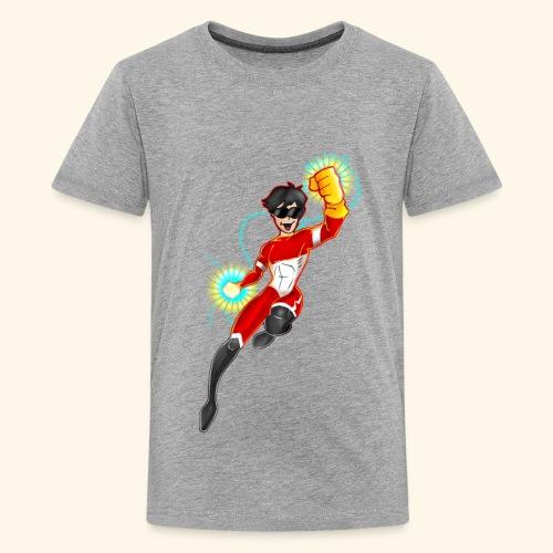 Power Zap Hero-Niño y Niña 9 a 12 años - Camiseta premium adolescente