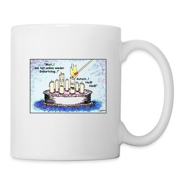 """Tasse """"Geburtstagskerze - sie"""", weiß"""