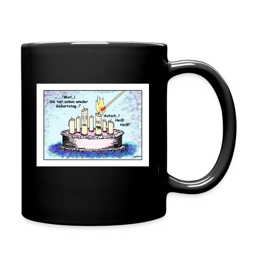 Tasse Geburtstagskerze - sie, schwarz - Tasse einfarbig