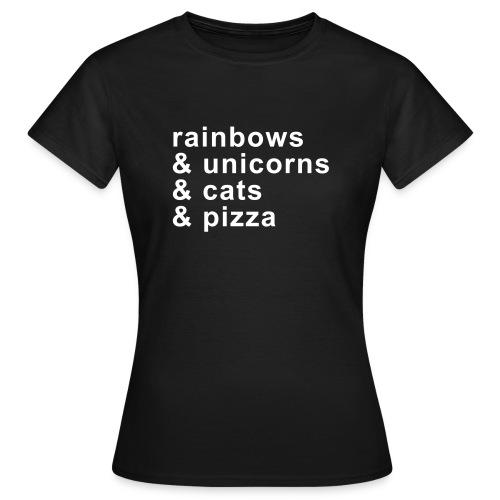 rainbows & unicorns - Frauen T-Shirt