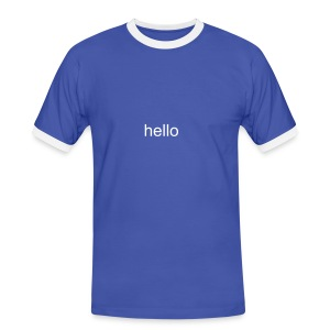Hello T-Shirt - Men's Ringer Shirt