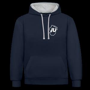 Dickes JU Sweatshirt zweifarbig Unisex - Kontrast-Hoodie
