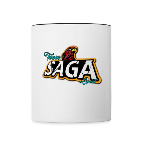 TeamSAGA Kaffeetasse - Tasse zweifarbig