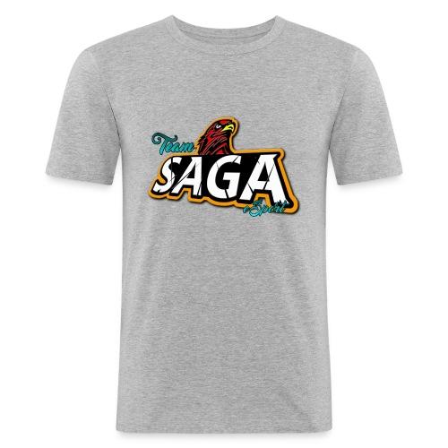 TeamSAGA Herren Slim Fit T-Shirt / freie Farbwahl - Männer Slim Fit T-Shirt