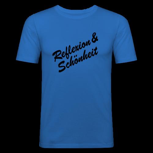 Reflexion&Schönheit - Männer Slim Fit T-Shirt