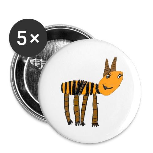 Streifentier auf mittelgroßem Buttons - Buttons mittel 32 mm (5er Pack)