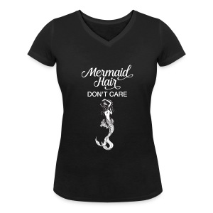 Mermaid Hair Don't Care Tee shirts - T-shirt col V Femme