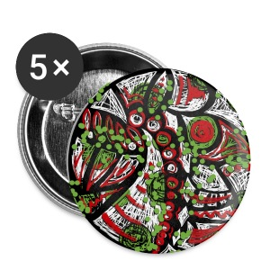 Mandala graffiti Badges - Badge grand 56 mm