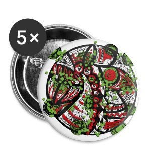 Mandala graffiti Badges - Badge moyen 32 mm