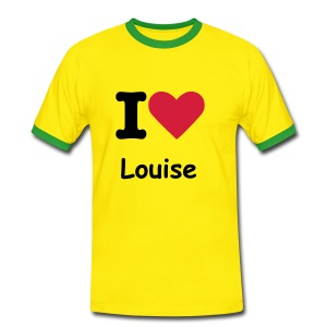 I HEART - LOUISE t-shirt - Men's Ringer Shirt
