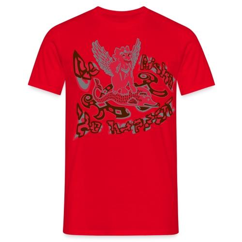 Go fish! Be happy!, t-shirt - Herre-T-shirt