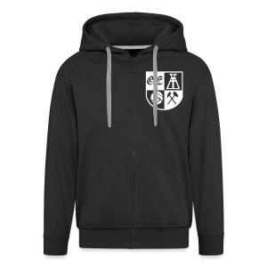 Kapu Jacke Ge-Wappen mit Armdruck Gelsenkirchen und  Rückendruck - Männer Premium Kapuzenjacke