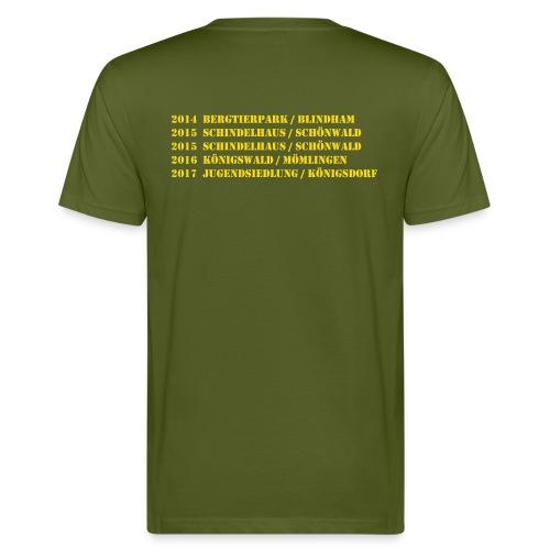 BA Trainer V.2  großem Loge & Daten auf Rücken - Männer Bio-T-Shirt