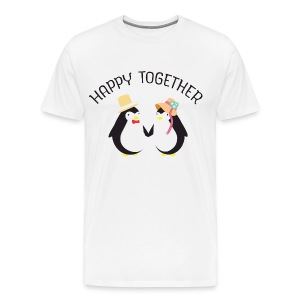 Happy Together | Cute Penguin Couple Tee shirts - T-shirt Premium Homme