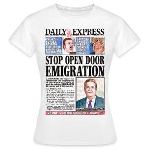 Daily Express: Emigration Women's Fit T-shirt - Women's T-Shirt