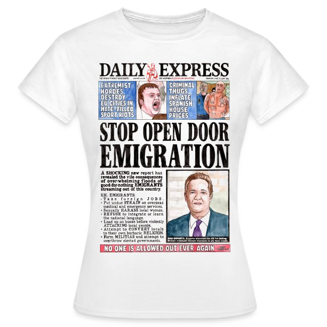 Daily Express: Emigration Women's Fit T-shirt
